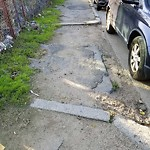 Broken Sidewalk at 202 W First St, South Boston