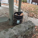 Overflowing Trash Can at Intersection Of Fairland St & Montrose St, Roxbury