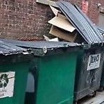 Residential Trash out Illegally at 583 Boylston St