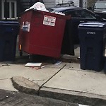 Overflowing Trash Can at 283 Gold St, 1, South Boston