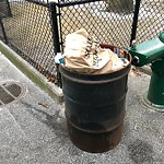 Overflowing Trash Can at DeFilippo Playground