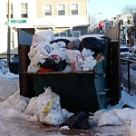 Overflowing Trash Can at 200 H St, South Boston
