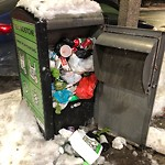 Overflowing Trash Can at 790 Harrison Ave, Roxbury