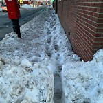 Sidewalk Not Shoveled at Intersection Of Milhender Pl & Dorchester Ave, South Boston
