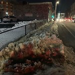 Sidewalk Not Shoveled at Intersection Of A St & Silver St, South Boston