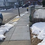 Sidewalk Not Shoveled at Intersection Of Woodmont St & Brooks St, Brighton