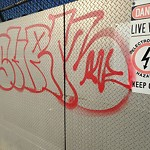 Illegal Graffiti at 400 I-93 Frontage Rd Columbus Park / Andrew Square