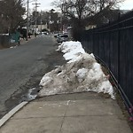 Sidewalk Not Shoveled at Intersection Of Bourne St & Canterbury St, Roslindale
