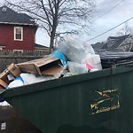 Overflowing Trash Can at 80 Beaumont St, Dorchester