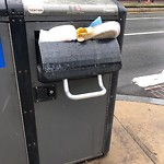 Overflowing Trash Can at Intersection Of Forsyth Way & Parker St
