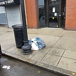 Overflowing Trash Can at 451 455a W Broadway, South Boston
