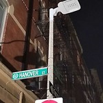 Street Lights at Intersection Of Prince St & Hanover St