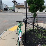 Abandoned Bicycle at Intersection Of Ewer St & Old Colony Ave, South Boston