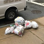 Residential Trash out Illegally at 3 Columbus Sq, Roxbury