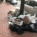 Residential Trash out Illegally at 78 W Newton St, Roxbury
