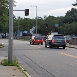 Traffic Signal at Intersection Of Leahaven Rd & River St, Mattapan