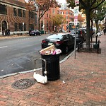 Overflowing Trash Can at Intersection Of Appleton St & Berkeley St