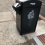 Overflowing Trash Can at 332 Longwood Ave