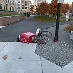 Abandoned Bicycle at Intersection Of Marginal St & Orleans St, East Boston