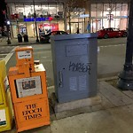 Illegal Graffiti at Intersection Of Exeter St & Boylston St