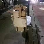 Residential Trash out Illegally at Intersection Of Medford St & N Washington St