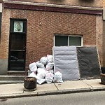 Residential Trash out Illegally at 156 156a Salem St