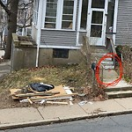 Residential Trash out Illegally at 130 Cummins Hwy, 1, Roslindale