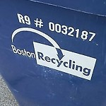Recycling Cart at 24 Santuit St, Dorchester