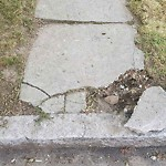 Broken Sidewalk at 30 Upland Ave, Dorchester