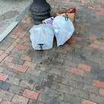 Residential Trash out Illegally at Intersection Of Massachusetts Ave & Washington St, Roxbury