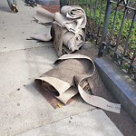 Residential Trash out Illegally at Intersection Of Gloucester St & Newbury St