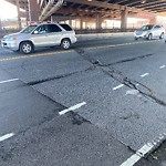 Pothole at Intersection Of Cambridge St & Interstate 93 N, Charlestown