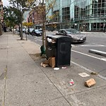 Overflowing Trash Can at Intersection Of Massachusetts Ave & Saint Germain St