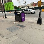 Overflowing Trash Can at Intersection Of Boylston St & Massachusetts Tpke E
