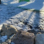 Sidewalk Not Shoveled at Parkman Playground