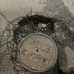 Pothole at 41 Belvidere St