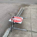 Damaged Sign at 38 Priesing St, Jamaica Plain