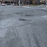 Pothole at Seaport Blvd