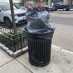 Overflowing Trash Can at Intersection Of Silver St & Dorchester Ave, South Boston