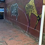 Illegal Graffiti at Intersection Of W Brookline St & Tremont St, Roxbury
