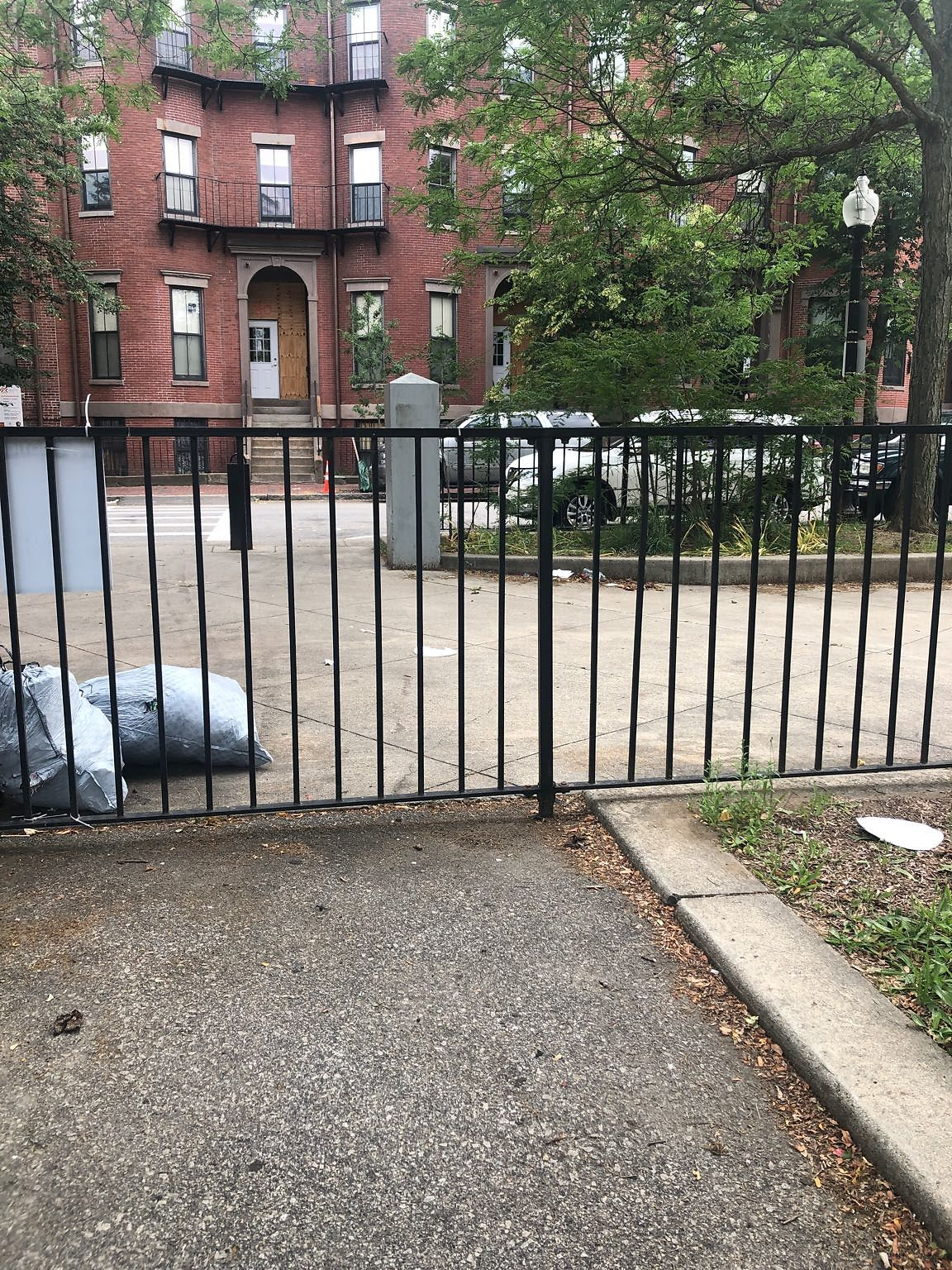 Trash all over the O'Day playground