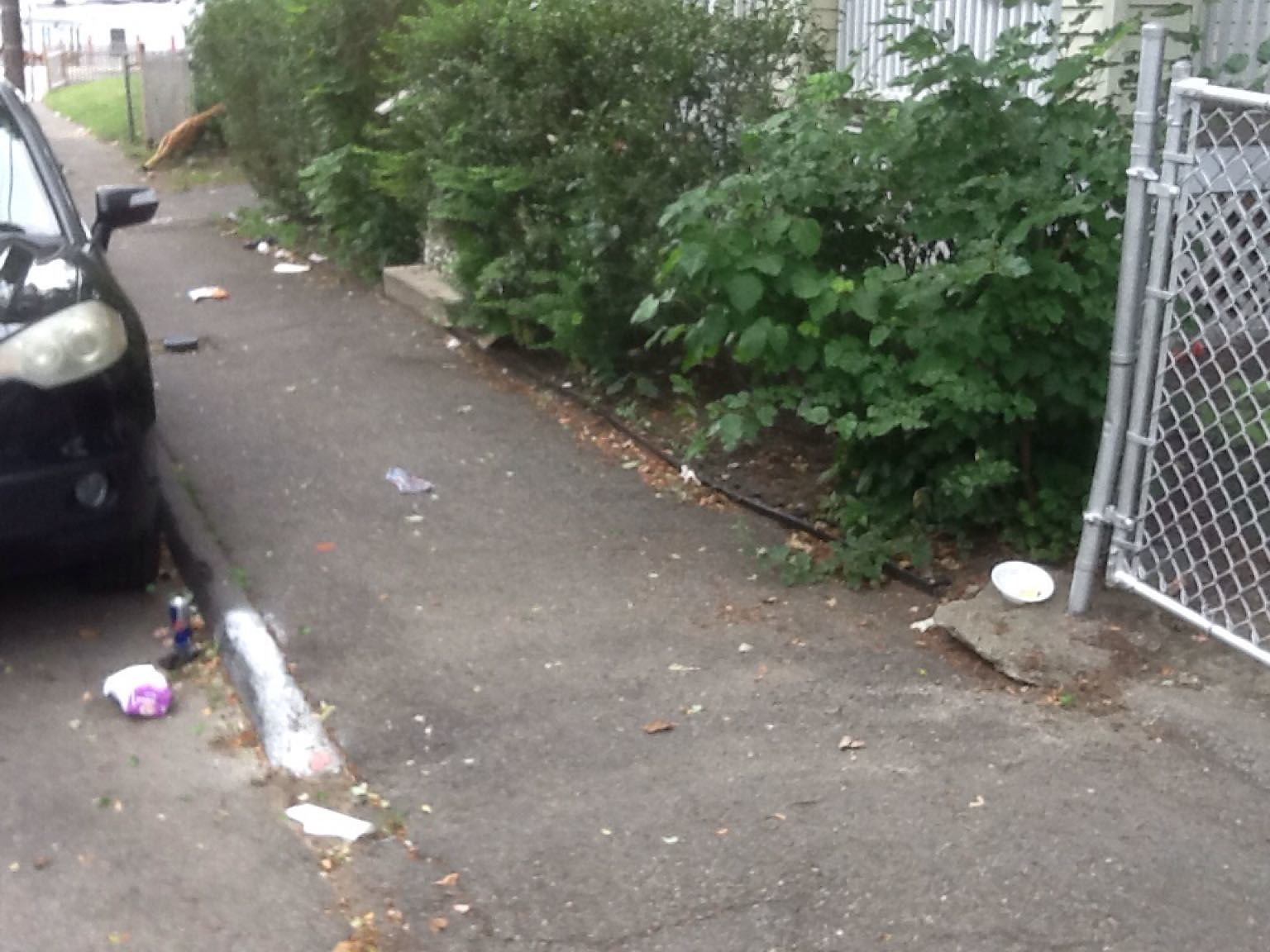 Tenants and their visitors at this property consistently trash the street and the property. The main source of the problem is on the 1st floor of building #4 in the multi-unit apartment house.