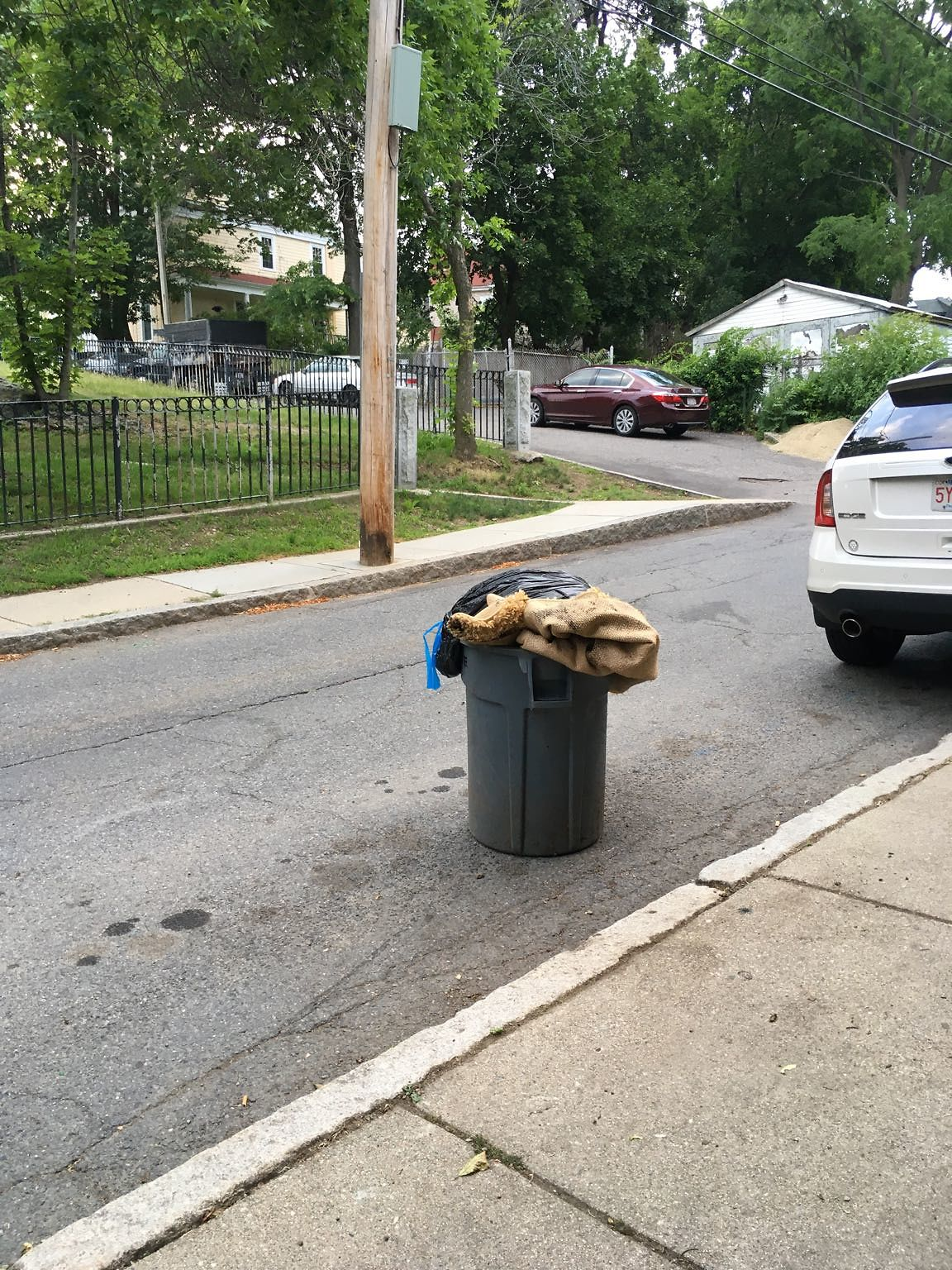 Trash not picked up.