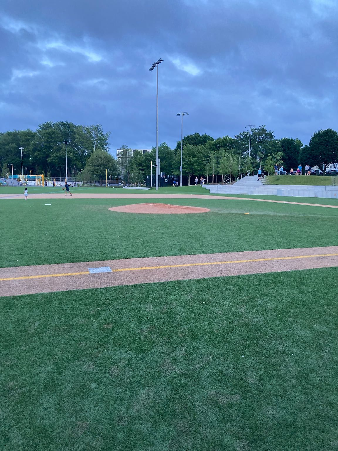 Brand new field in the Dorchester part of the city that the kids can't play at after 6 pm because the lights don't work please investigate