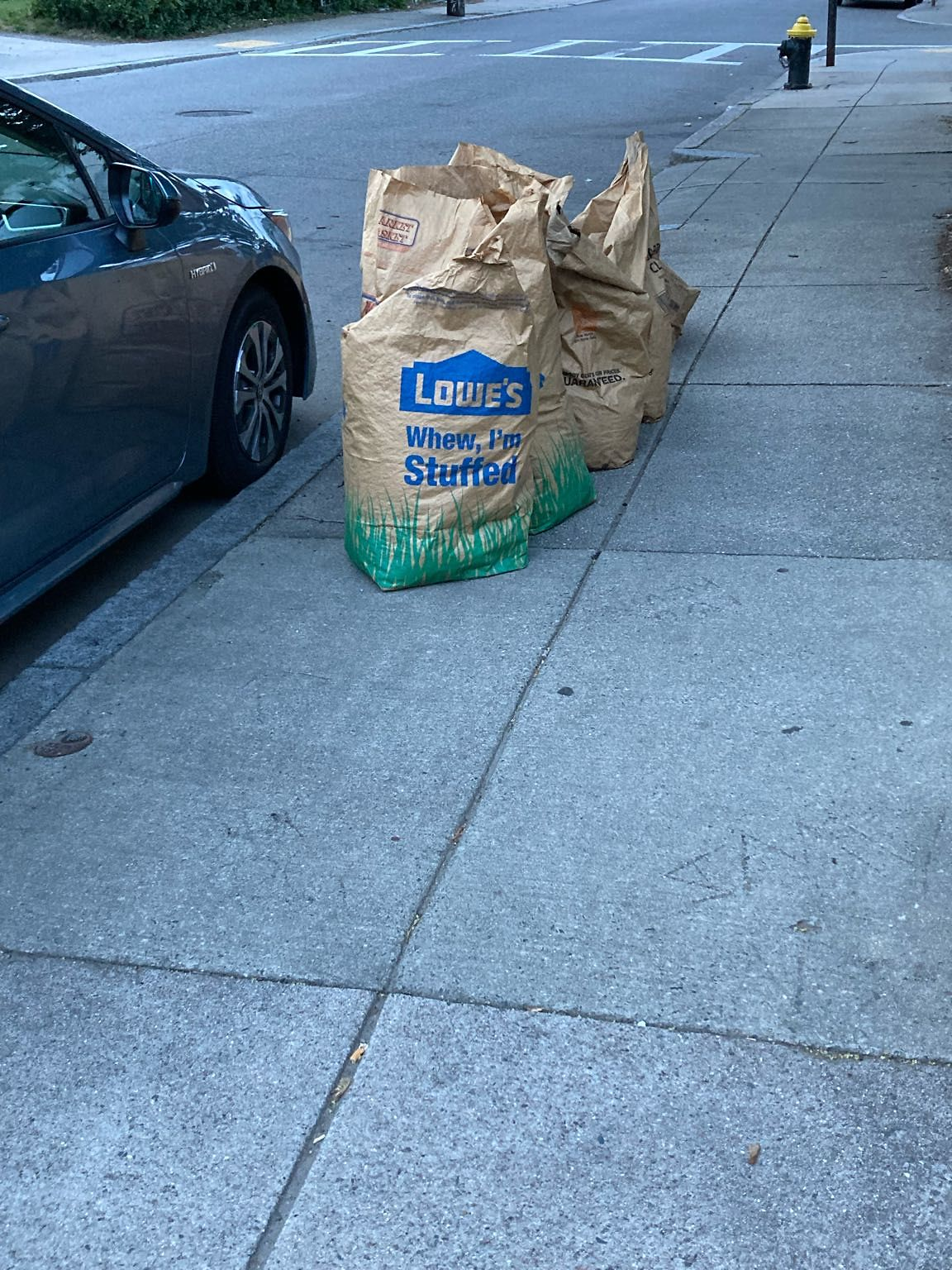 Yard waste was put out last Wednesday on trash day and it was not yard waste week. It is still in front of the 48 Allston street in Allston on the front sidewalk