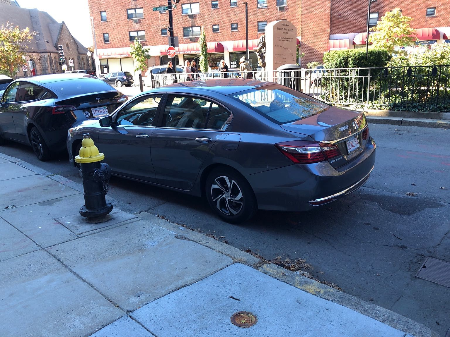 Parked at hydrant