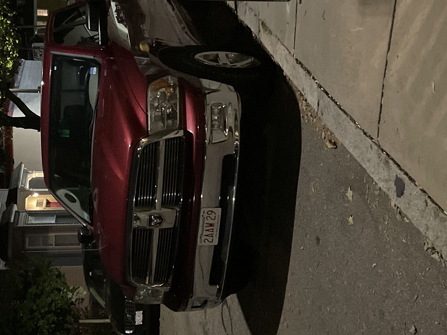 Plate number 22AAW29 red pick up truck blocking fire hydrant